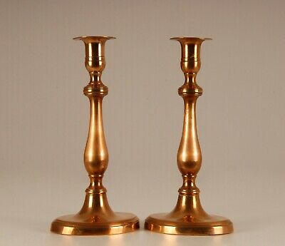 A pair 18th c antique French bronze Louis XVI candle holders candlesticks