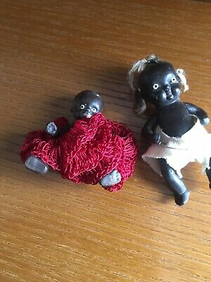 Vintage Antique Black African American Mini Baby Dolls SUPER RARE