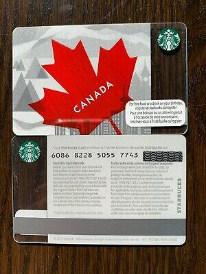 STARBUCKS '2013 CANADA MAPLE LEAF - #6086 - Gift Card - New - No Value