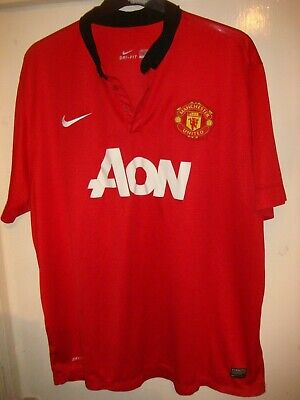 MANCHESTER UNITED HOME Football Shirt - MAN UTD- 2013/14 - XXXL 3XL ADULT- X19
