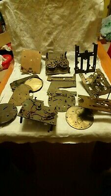 Joblot Of Clock Parts For Spares Or Repairs