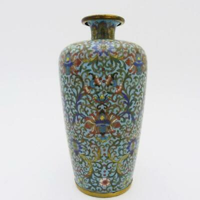 Antique Chinese Lotus Cloisonne Meiping Vase, 18Th Century, Qianlong Peiod