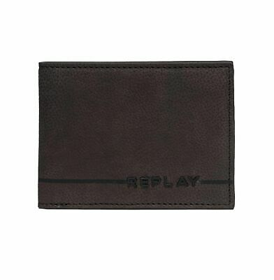 Replay FM5165 BiFold Leather Wallet, Brown