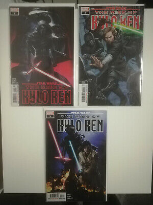 Star Wars The Rise Of Kylo Ren #1 2 3 - 1st Print - 2nd Print - Marvel - 2020