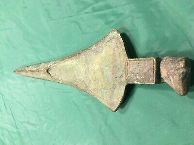 Circa 1000Bce Ancient Persian Luristan Bronze (Wax Cast) Axe Head With Ram Head