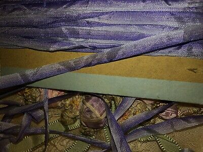 6.1 Yards  ANTIQUE VINTAGE French PURPLE Ombre Ribbon Trim 1/4""