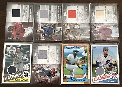 Great relic lot 2020 Topps series One Lindor Thomas Baez and More 8 cards