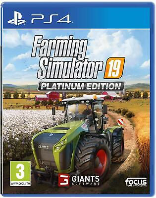 Farming Simulator 19 Platinum Edition PS4 Platform Playstation 4 Ages 3 and Over