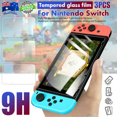 3pcs Tempered Glass Screen Protector Edge 9H Hardness Film For Nintendo Switch