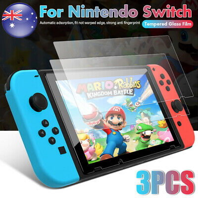3pcs For Nintendo Switch Screen Protector 9H Tempered Glass Film Anti-scratch