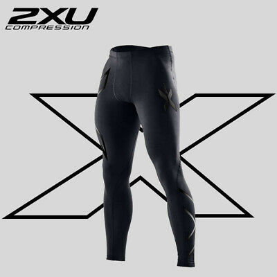 2XU Mens Compression Tights Full Length Gym Skins in Black Detailing 🇦🇺 Stock