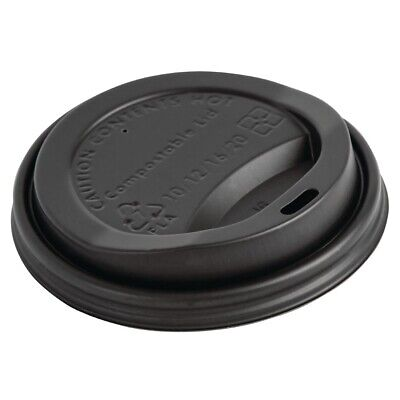 Fiesta Green Compostable Hot Cup Lids 340ml Pack of 1000