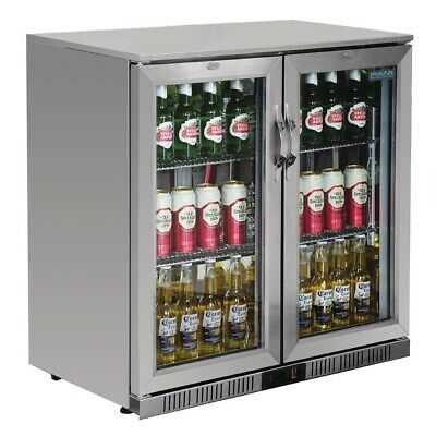 Polar G-Series Back Bar Cooler with Hinged Doors Stainless Steel 208Ltr