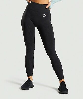 Gymshark Vital Seamless Leggings Small black with receipts size small uk (8)