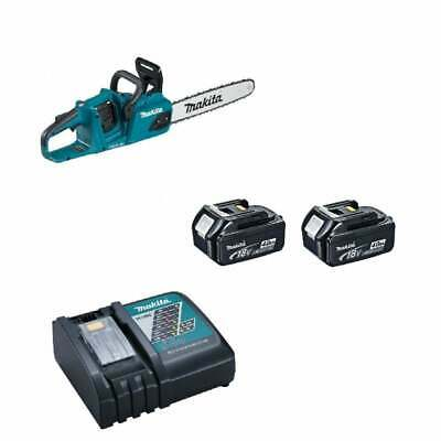 Makita DUC405RMJ Twin 18v Cordless Chainsaw 2 x 4.0ah Batteries + Charger