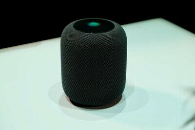 Barely Used Apple HomePod Voice Enabled Smart Assistant - Space Gray