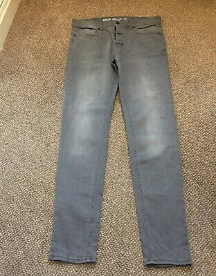 Mens. Boys Denim Co Grey Jeans W32  L34 Slim Fit