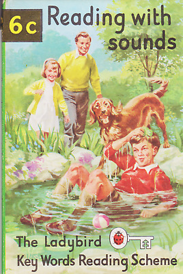 6c READING WITH SOUNDS Vintage Ladybird Book Key Words with Peter and Jane