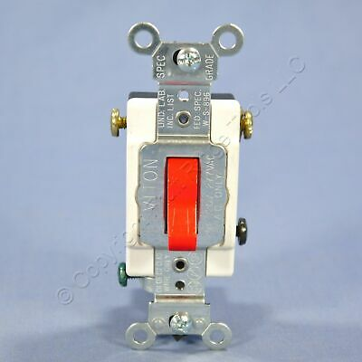 Leviton Red INDUSTRIAL Grade 3-Way Toggle Light Switch 20A Bulk 1223-SR