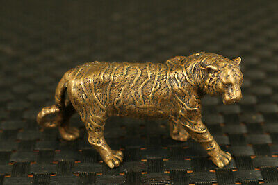 China old bronze hand cast Tiger statue figure collectable ornament
