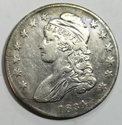 1834 Bust Half Dollar - Nice Type Coin - Great Details - No Reserve