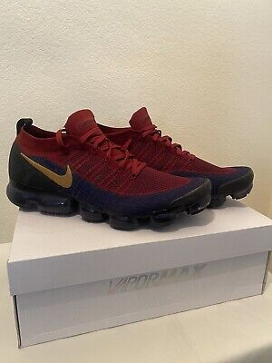 Nike Air Vapormax Flyknit 2 Olympic 942842-604 Team Red/Obsidian-Black Size 14