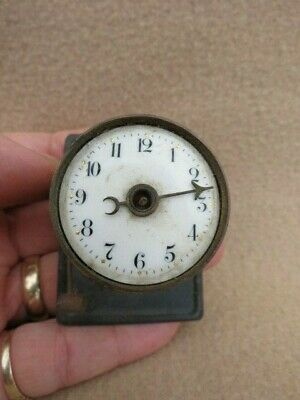 Small Antique German Alarm Clock Movement For Spares Or Repair