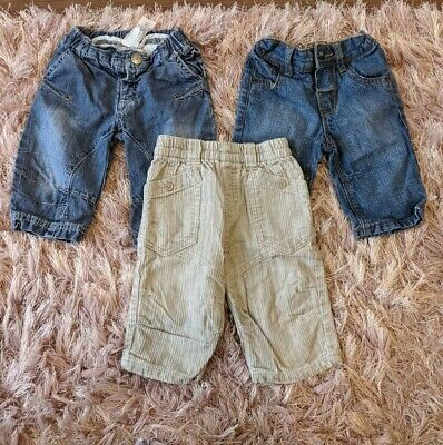 NEXT Baby Boys 3-6 Months Trousers X 3 Pairs Jeans Trousers