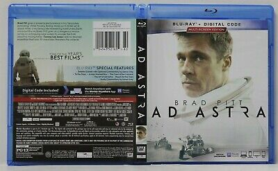 Ad Astra (Blu-Ray, Multi-Screen Edition,2019) FREE Shipping Brad Pitt No Digital
