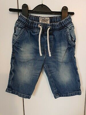 LOVELY NEXT BOYS BLUE JEANS SHORTS AGE 5 YEARS drawstring VGC holiday summer