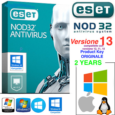 ESET NOD32 Antivirus - 10 PC / 2 ANNI 🔥 Product Key 2 Years 🔥Licenza Originale