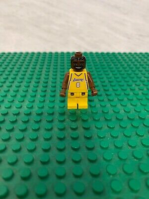 LEGO KOBE BRYANT Minifigure in Yellow Home Uniform AUTHENTIC