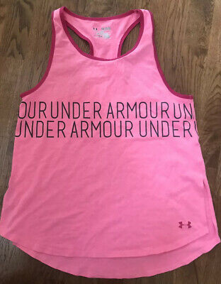 Youth Size XL under Armour Tank. EUC. Pink