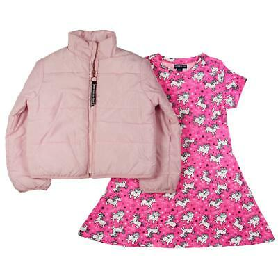 Limited Too Girls Pink 2 Piece Unicorn Jacket Dress With Jacket 2T BHFO 4377