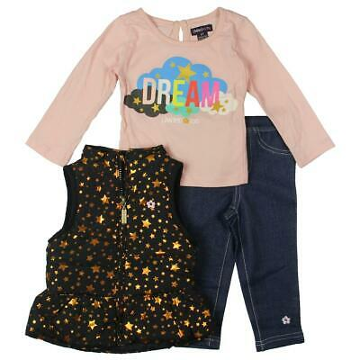 Limited Too Girls Multi 3 Piece Star Print Vest Pant Outfit 2T BHFO 4505
