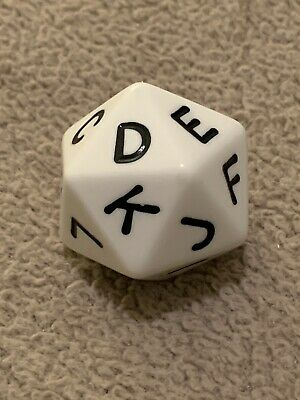 Scattergories 20 Sided Letter Die Dice Replacement Part