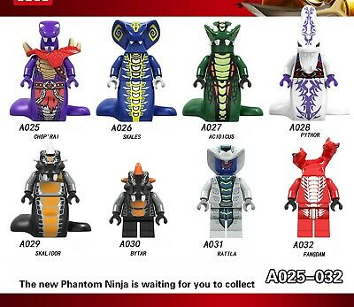 8X Ninjago Fit lego Pythor Mini Figur Serpentine Lloyd Cole Jay Kai Sylor Pythor