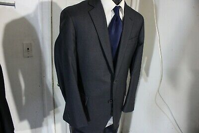 Brooks Brothers Regent Size 40 Short Dark Gray 2 Button Wool Sportcoat