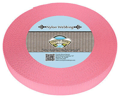 Country Brook Design® 3/4 Inch Pink Heavy Nylon Webbing, 10 Yards