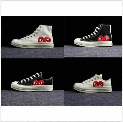 COMME DES GARCONS PLAY Chuck Taylor x CONVERSE FREESHIPPING HIGH QUALITY