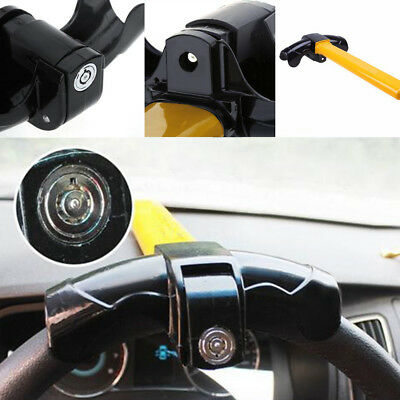 Universal Anti-theft Lock Car Steering Wheel Security Rotary Aluminum Lock Tool