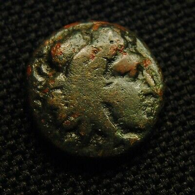 Æ15 Macedonia Amyntas III Herakles Rv Eagle & Serpent 3.40 gram 14-5mm 393-69 BC