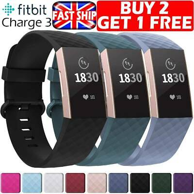 Fitbit Charge 3 Wrist Straps Wristbands Replacement Accessory Sport Watch Bands