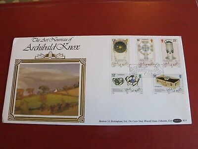 Benham Isle of Man First Day Cover - Archibold Knox / Art Nouveau  - 1989