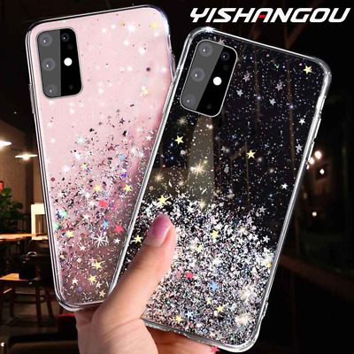 For Samsung Galaxy S20 10 A70 Plus Bling Glitter Clear Gel Soft Phone Case Cover