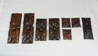 9 French Antique Salvage Decorative Wood Part Hand Carved Ornate Furniture Oak