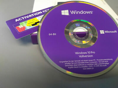 Windows 10 Professional 64Bit CD + Win 10 Pro COA OEM Key + versiegelt OVP