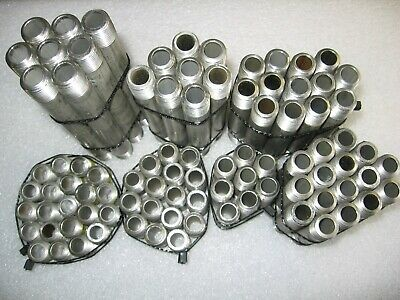 """Assortment of 91) 3/8"""" NPT XH Sch. 80 Threaded 316 Stainless Steel Pipe Nipples"""