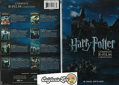 Harry Potter 8-Movie Dvd Collection Complete ✔☆New/Sealed☆✔ 100% Usa Authentic