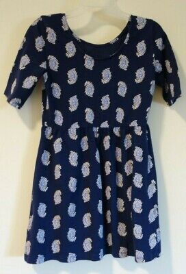 Old Navy Blue Paisley Dress Girl's Size 5
